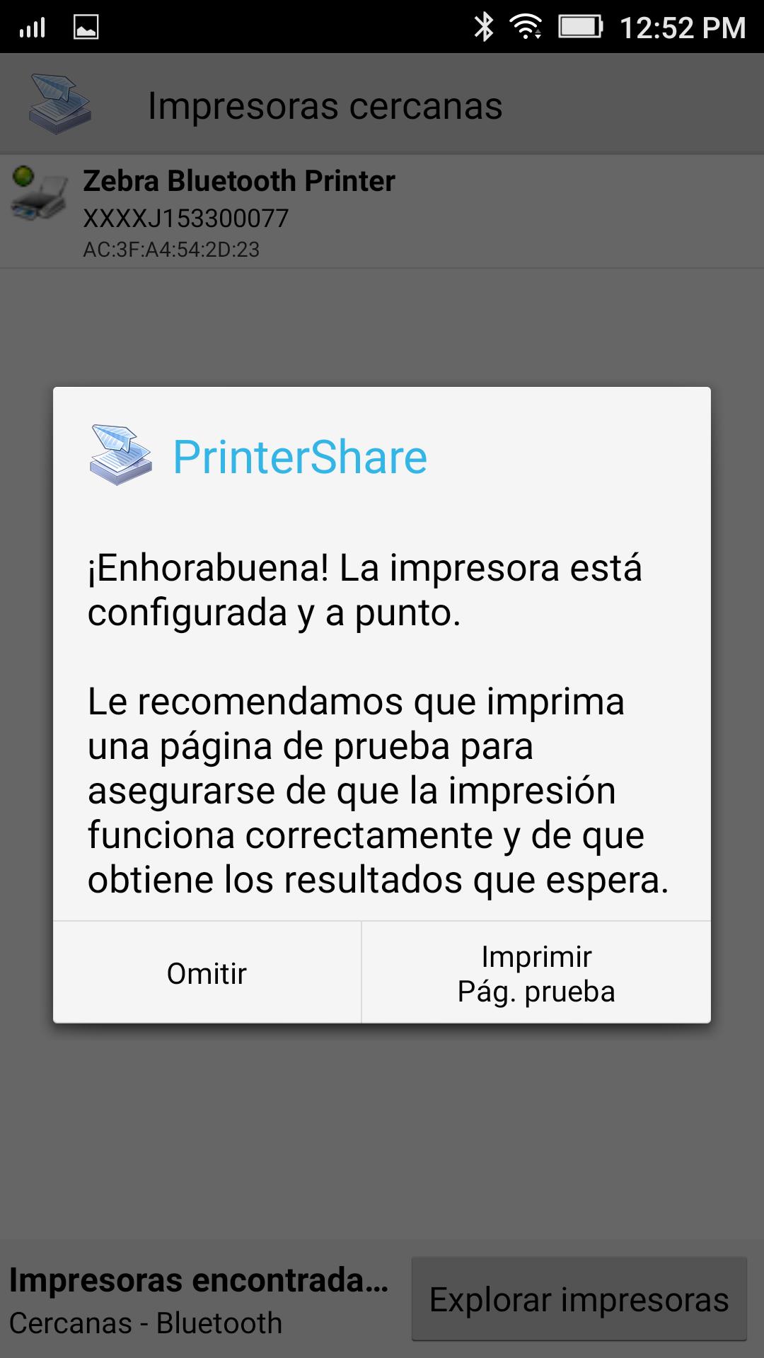 Configuración Impresora Zebra iMZ320 con Android – Ayuda de Bsale